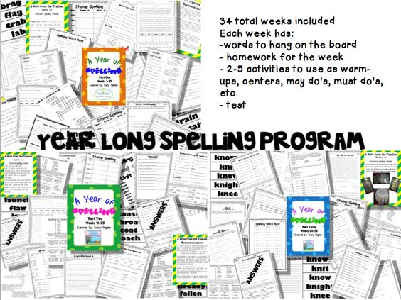http://www.teacherspayteachers.com/Product/Spelling-Year-Program-Parts-1-2-3