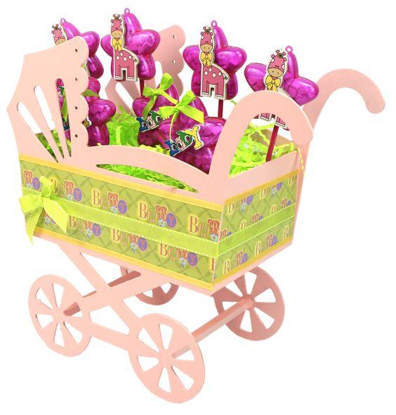 Carreola grande de madera centro de mesa para baby shower - Decoracion con ruedas ...