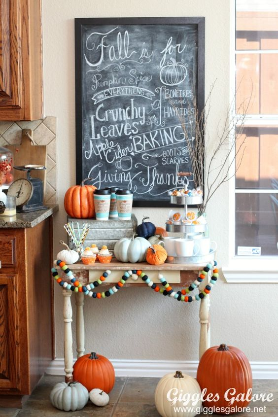 Easy Entertaining: Fall Coffee Bar - Giggles Galore