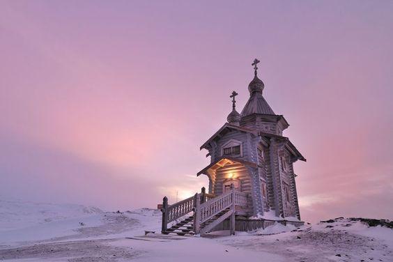 Trinity Church, Bellingshausen Station, Antarctica.