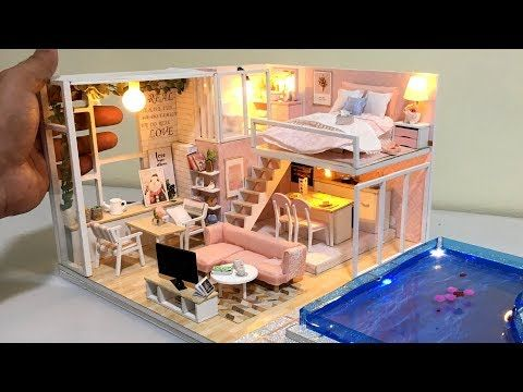 Diy Miniature New Barbie Dollhouse With Real Swimming Pool Youtube