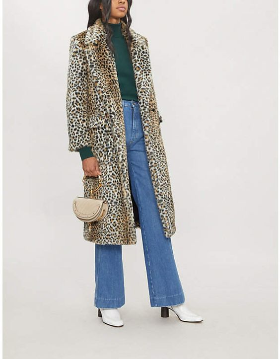 Philosophy Di Lorenzo Serafini Leopard-print faux-fur coat