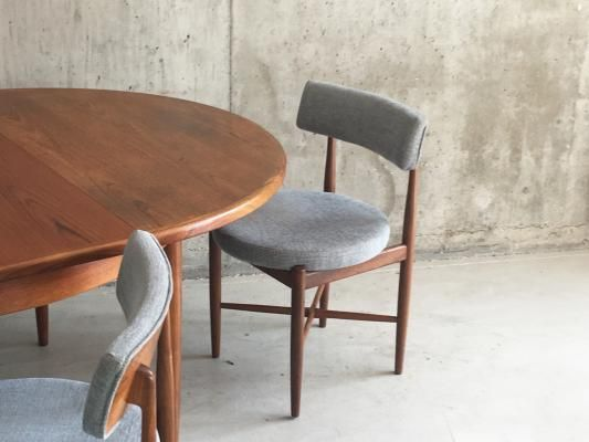 Extendable Dining Table And 4 Dining Chairs From G Plan 1970s 2