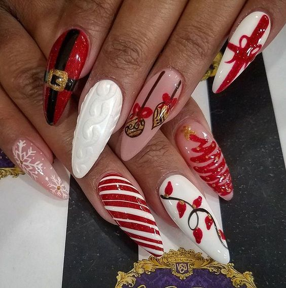 59 Christmas Nail Art Ideas For Early 2020 Christmas Nail Designs Christmas Nails Acrylic Holiday Nail Designs