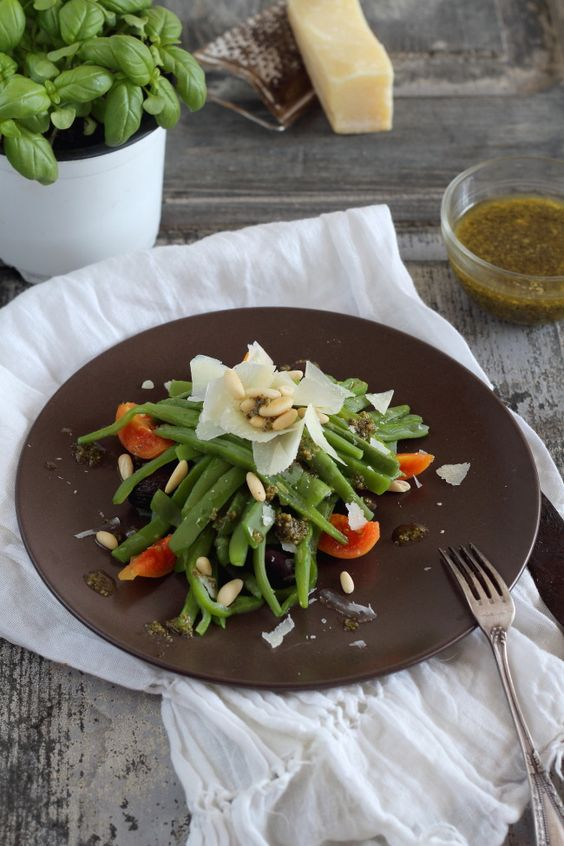 Mi Gran Diversión: Ensalada de judias verdes con parmesano y piñones