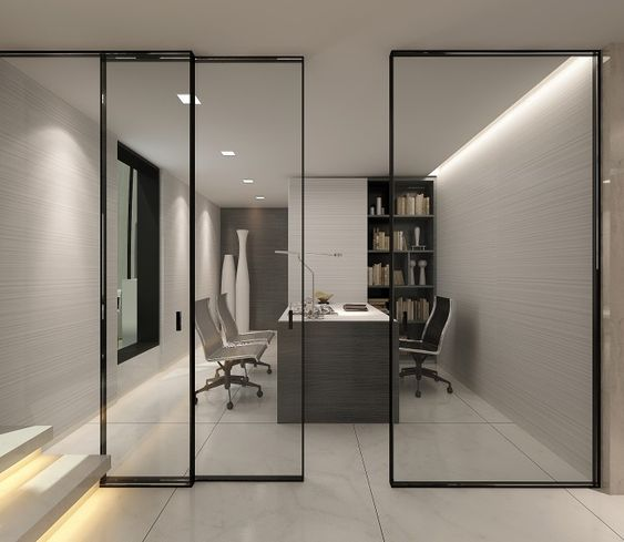 Stylish Office Interior Design Private Penthouse Beijing