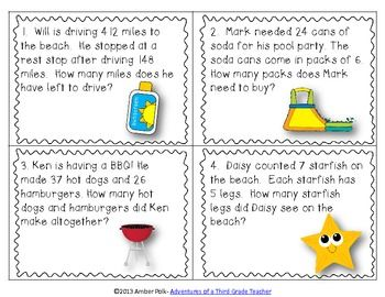 Worksheets Mathematical Story About  Addition,subtraction,multiplication And Division task cards multiplication and division on pinterest