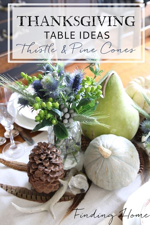 Thanksgiving table and thistles on pinterest