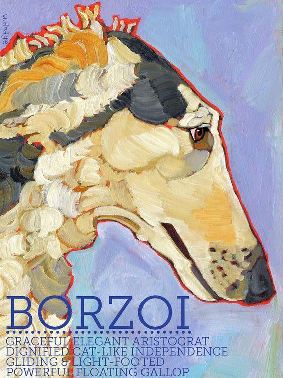 おしゃれでかっこいいボルゾイ犬の壁紙