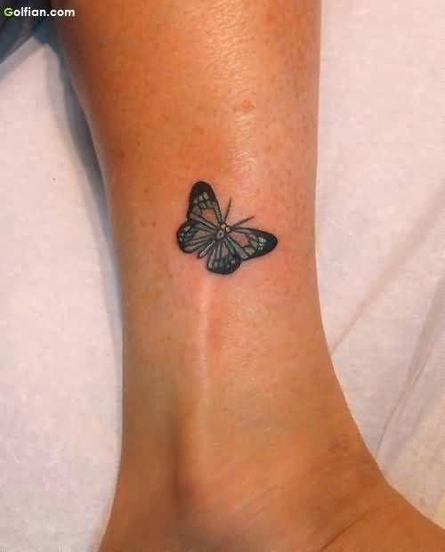 Cute Ankle Tattoo Butterfly Ankle Tattoos Butterfly Tattoo Small Butterfly Tattoo