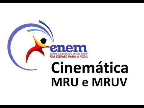 Vídeo Cinemática: MRU e MRUV - Aula completa