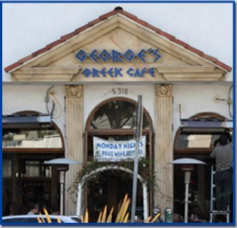 George's Greek Cafe, Long Beach, CA - Most visited restaurant for me.  Fresh, delicious Greek cuisine with a lively atmosphere.