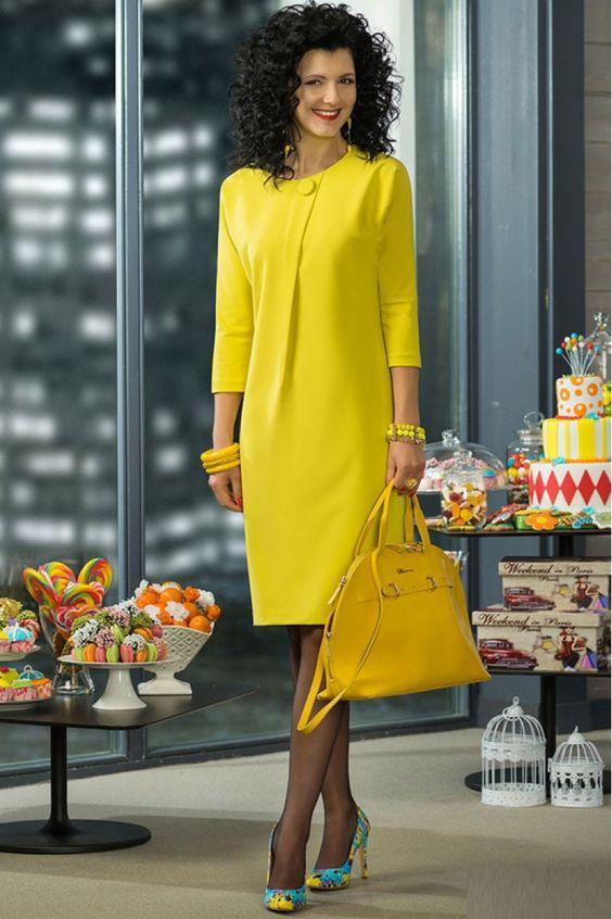 Стильные модели платье деловое с кантом