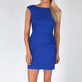 French Connection Women's Contemporary Peplum Dress #VonMaur #FrenchConnection #Royal #Peplum #HighNeckline