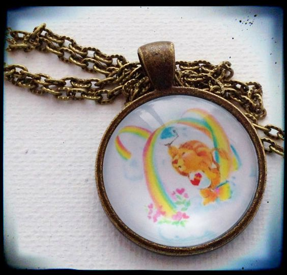 BRAVE Heart LION . Glass Pendant Necklace . The by girlgamegeek, $11.11