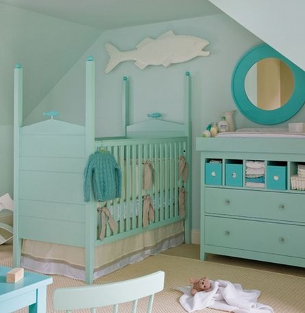 Ocean themed baby room! Fits right with in my beach house vision
