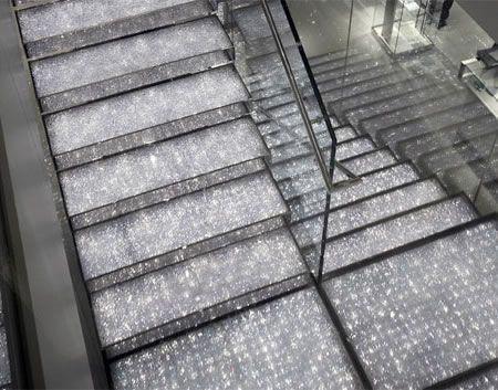 Swarovski crystal staircase?!  Yes, I am a bit obsessed with crystals!