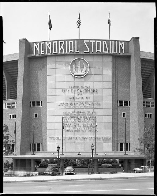 Memorial Stadium Baltimore - Watch a ballgame and then ice skated in the parking lot in the winter.