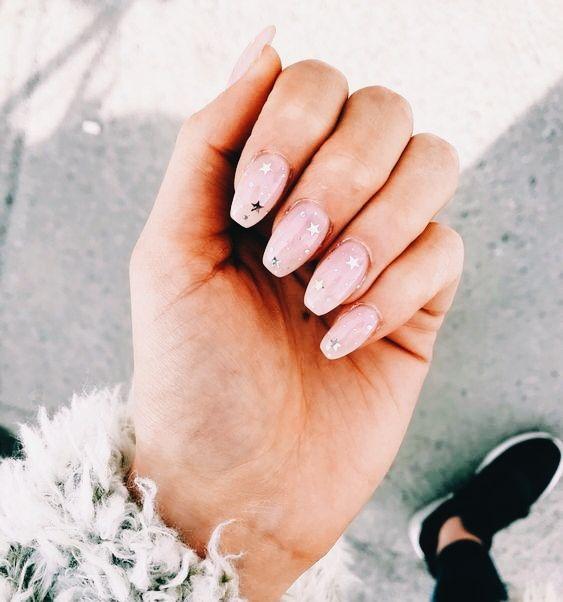 Vsco Vibesvsco Star Nails Beautiful Nails Cute Nails