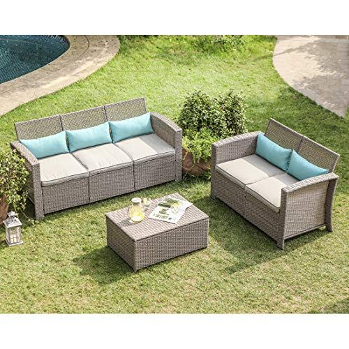See Cosiest 3 Piece Outdoor Furniture Set Taupe Wicker Section Patio Furniture Patiofurniture Patiodecor Outdoor Furniture Sets Outdoor Furniture Furniture