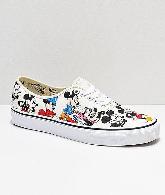 Disney by Vans Authentic Mickey's Birthday True White Skate