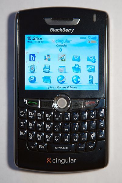 10. Then Came my blackberry 8800