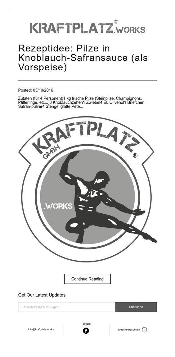 Rezeptidee: Pilze in Knoblauch-Safransauce (als Vorspeise)