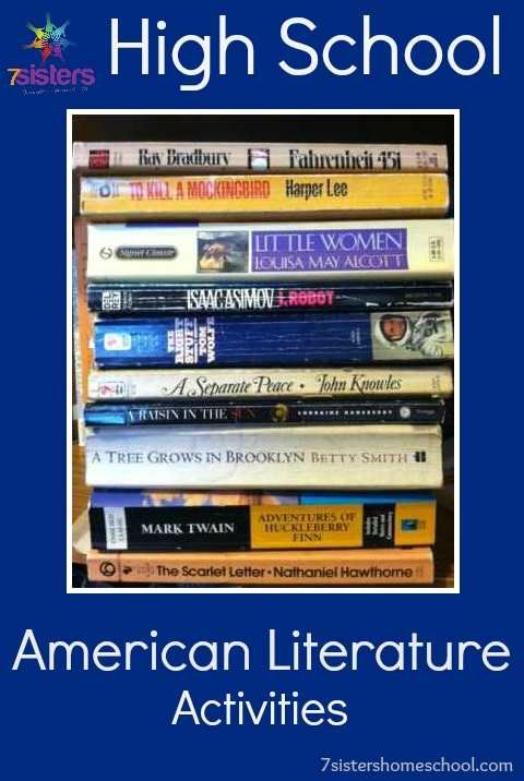 HIgh School American Literature Activties for titles for you know and love