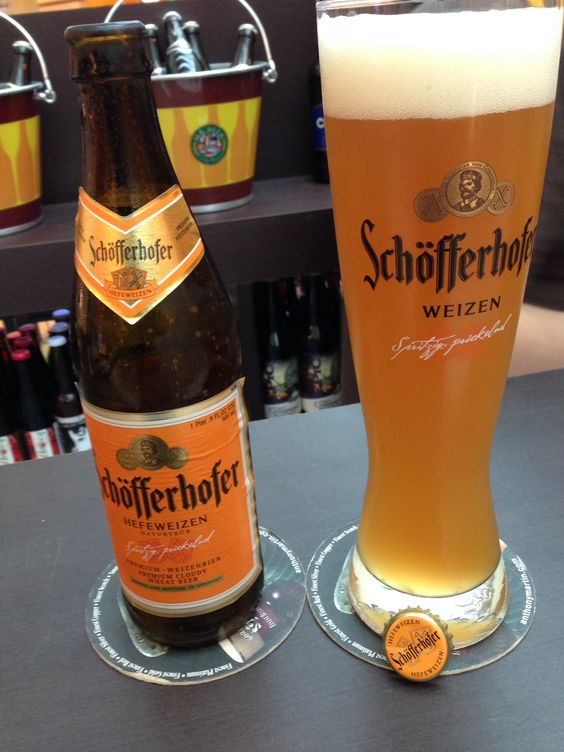 Schofferhofer Hefeweizen......BEST BEER EVER!!! Wished I ...