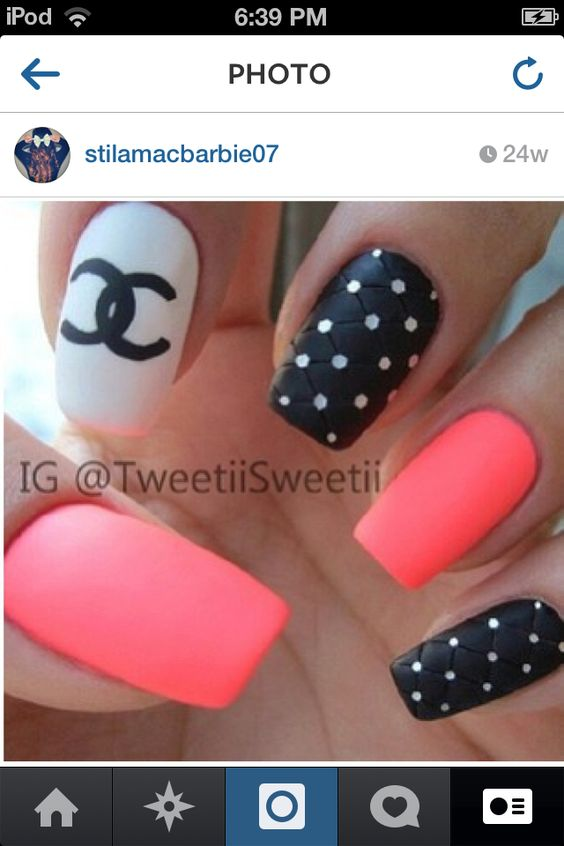 Chanel nail designs polish me pretty pinterest chanel nails chanel nail designs polish me pretty pinterest chanel nails design chanel nails and amazing nails prinsesfo Image collections