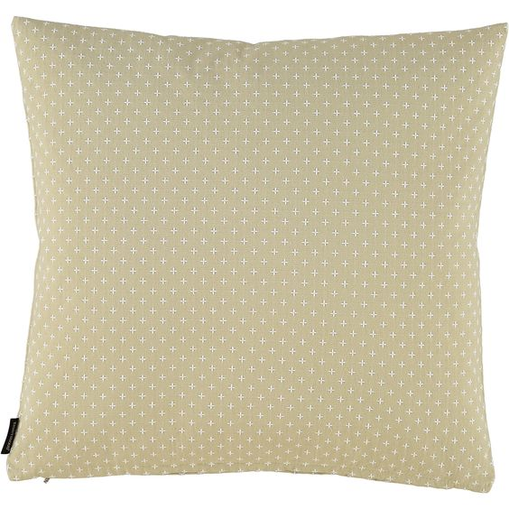 """Eightmood"" Olive Cross Patterned Cushion 50x50cm - TK Maxx"