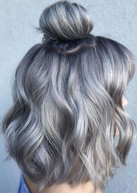 Dark Grey Hair Color Ideas for Spring 10  Score Styles  Silver