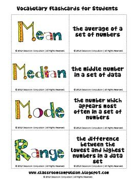 48 best mean images on pinterest teaching math teaching alberta grade 7 math statistics and probability this is a freebie from my mean median mode and range pack these are fun colorful flashcards that ccuart Gallery