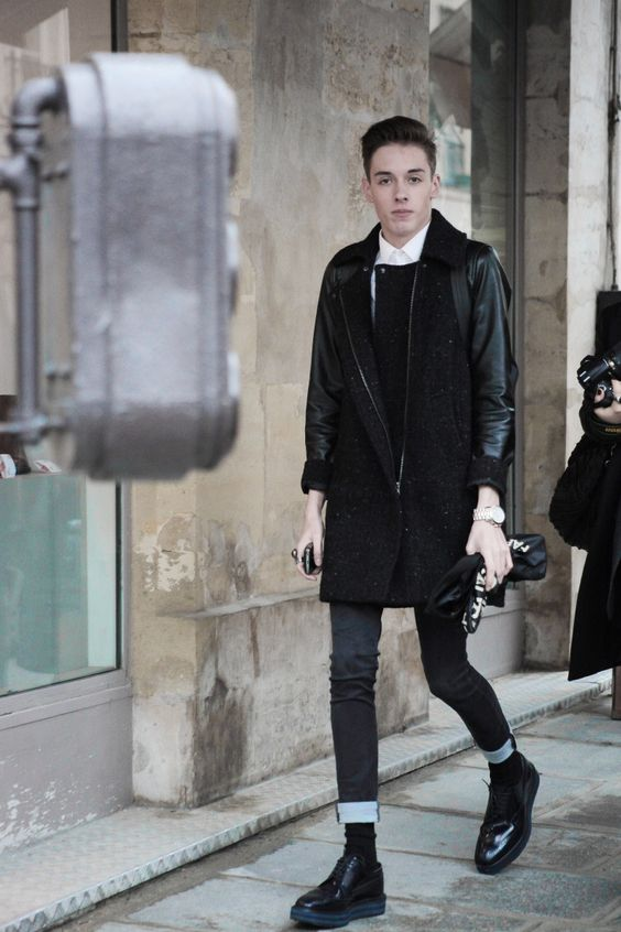 THEFASHIONALISTS: Outside - Black skinny jeans x Creepers.
