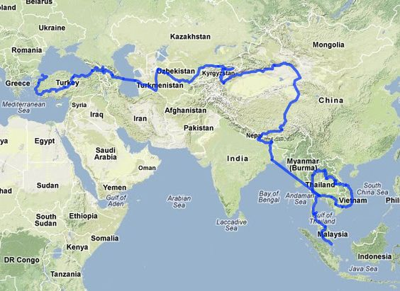 Join Odyssey Overland for the adventure of a lifetime as we travel – Odyssey Travel Map
