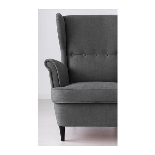strandmon fauteuil oreilles svanby gris ikea. Black Bedroom Furniture Sets. Home Design Ideas