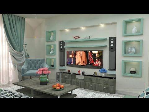 أفكار جبس بورد للشاشات التلفزيون Tv رفوف شاشات Youtube 3d Living Room Living Room Decor Home