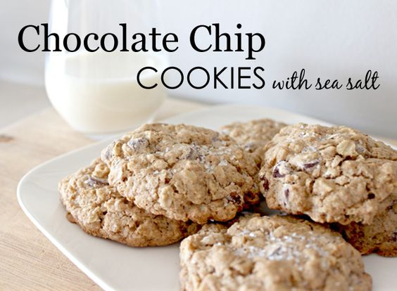Chocolate Chip + Sea Salt = Magic!: Chocolate Chips, Drinks Sweets, Sea Salt, Chocolate Sweets, Chocolate Chip Cookies, Dessert