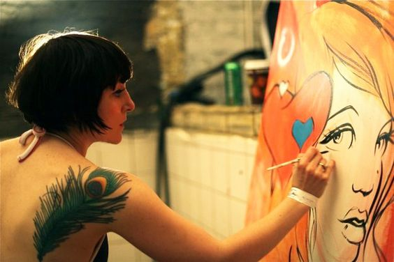 Miss Led live painting. http://www.missled.co.uk