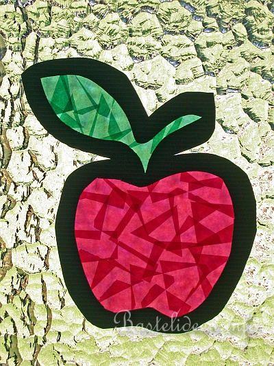 Apfel Fensterbild  Schulkunst  Pinterest  Äpfel