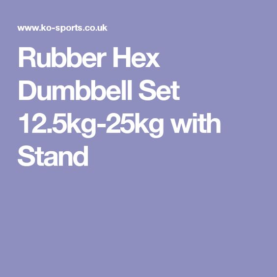 Rubber Hex Dumbbell Set 12.5kg-25kg with Stand