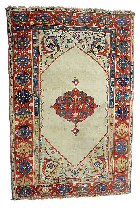 Carpet  Date:     18th century Geography:     Turkey Culture:     Islamic Medium:     Wool (warp, weft and pile); symmetrically knotted pile