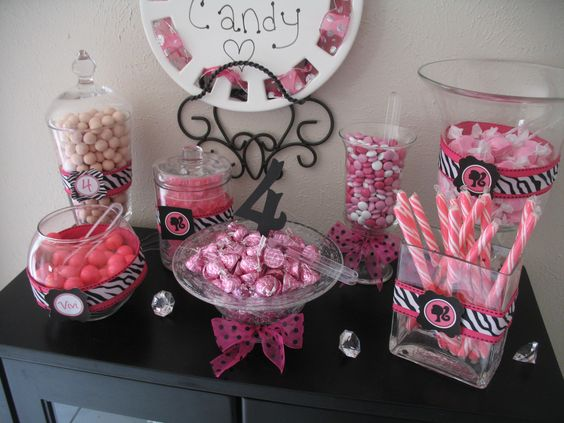 Barbie Birthday Pink Candy Buffet:
