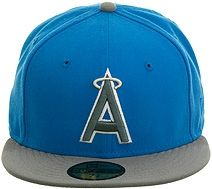 New Era 2Tone Los Angeles Angels 1986 Fitted Hat - Light Blue, Storm Gray, White