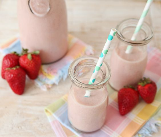 It's easy to make you own homemade Strawberry Milk!    (This vegan version is made with almond milk.  You can feel free to use your favorite milk!)