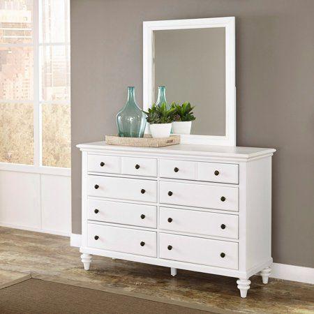 Home Styles Bermuda Brushed White Dresser And Mirror White 6