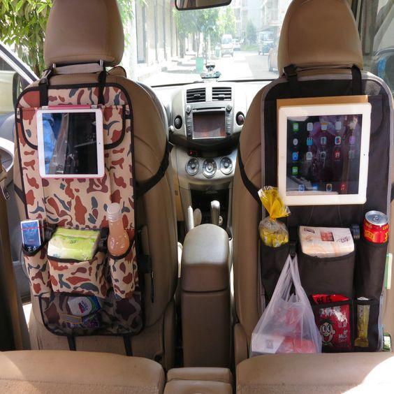 Auto Back Car Seat Organizer Holder Multi-Pocket Travel Storage Hanging Bag diaper bag baby kids car seat ipad hanging bag b311