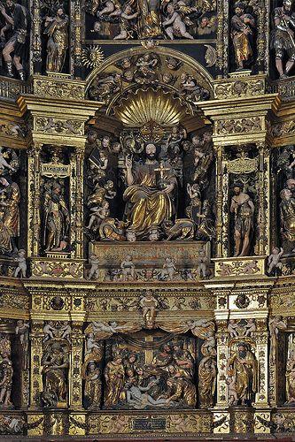 Catedral de Santo Domingo de La Calzada,retablo.  La Rioja-España