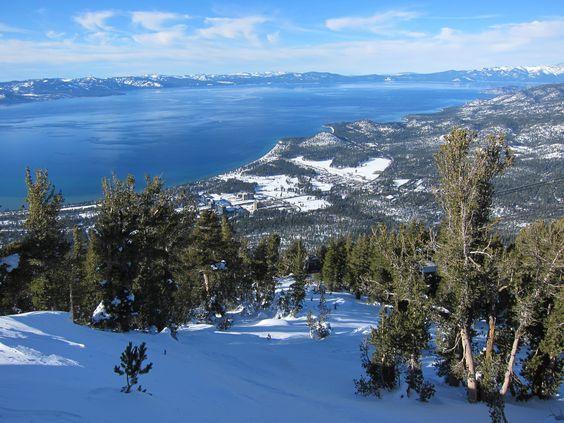 Heavenly Ski Resort In South Lake Tahoe Lake Tahoe California Is Known For Having Amazingly Warm And Mild Winter Weather Heavenly Ski Resort South Lake Tahoe Lake Tahoe