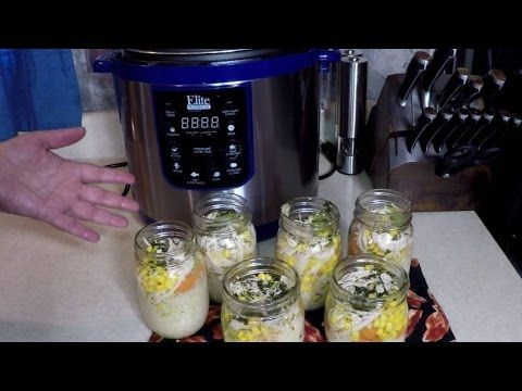 Pressure Cooker Turkey Soup Mason Jars - Grab and Go